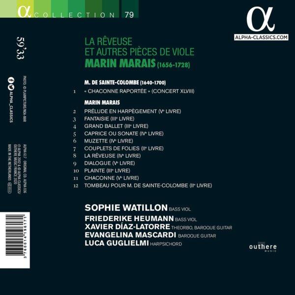 Marais: La rêveuse et autres pièces de viole - Sophie Watillon