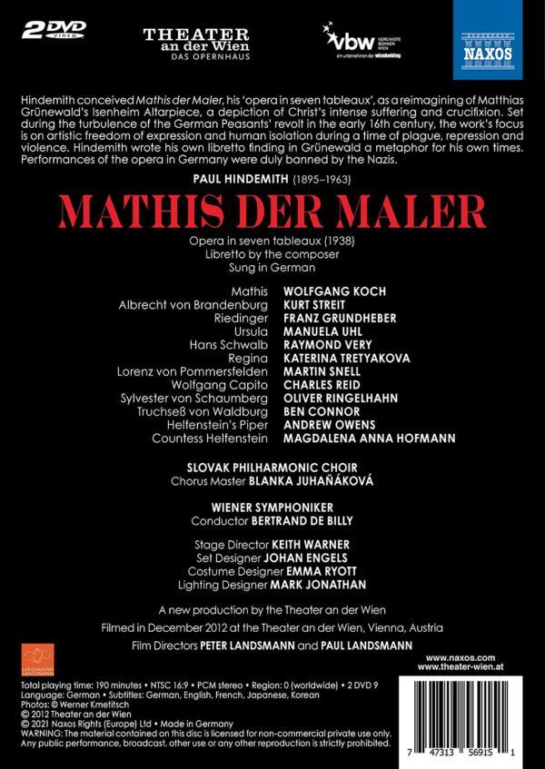 Paul Hindemith: Mathis Der Maler - Bertrand de Billy