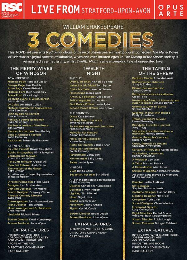 Shakespeare: 3 Comedies - Royal Shakespeare Company