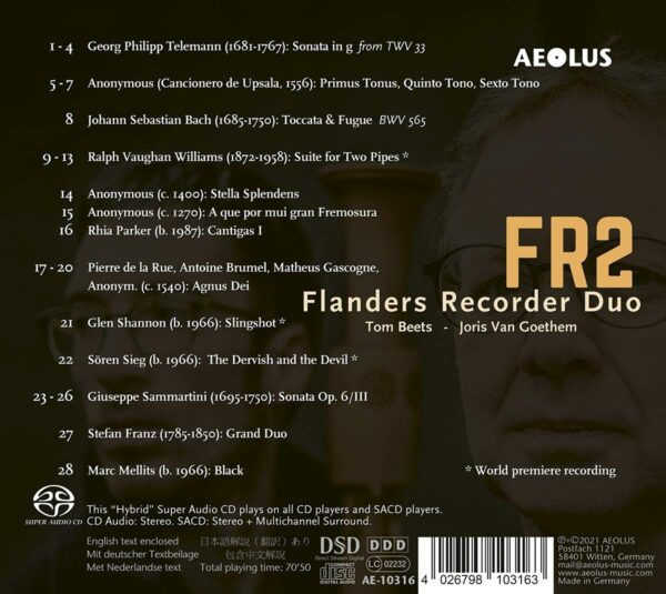 Flanders Recorder Duo Plays Works By Telemann, Bach, Sammartini...