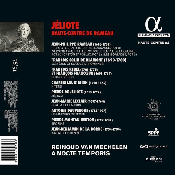 Jéliote, Haute-Contre de Rameau - Reinoud Van Mechelen