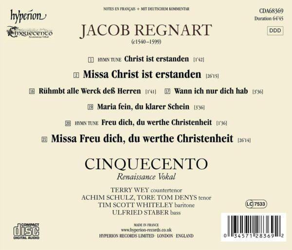 """Jacob Regnart: Missa """"Christ ist erstanden"""" - Cinquecento"""