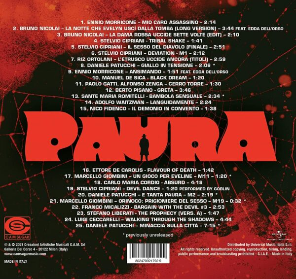 Paura: A Collection Of Italian Horror Sounds From The Cam Sugar Archive (OST)