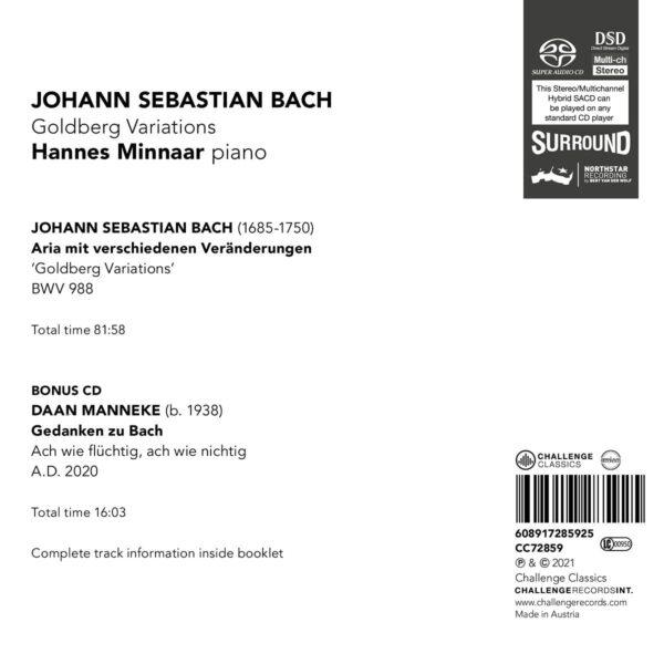 Bach / Manneke: Goldberg Variations - Hannes Minnaar