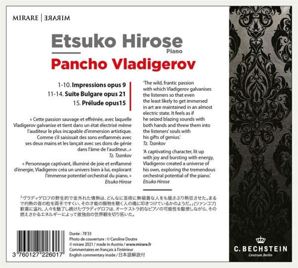 Panchu Vladigerov: Impressions - Etsuko Hirose