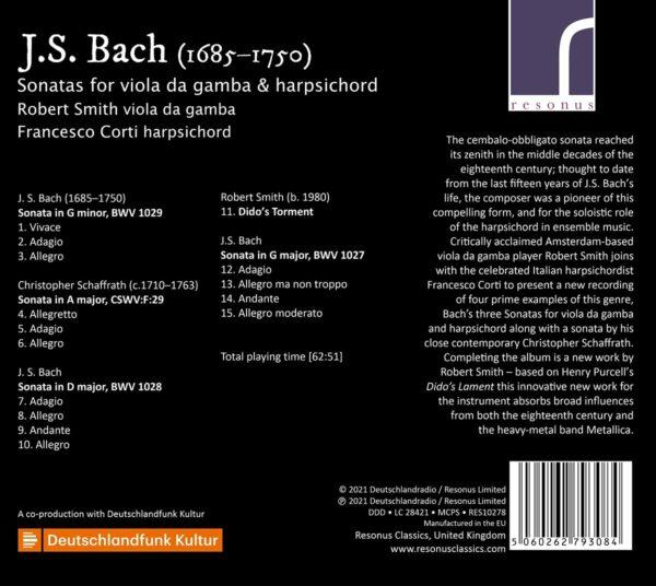 Bach: Sonatas For Viola Da Gamba - Robert Smith