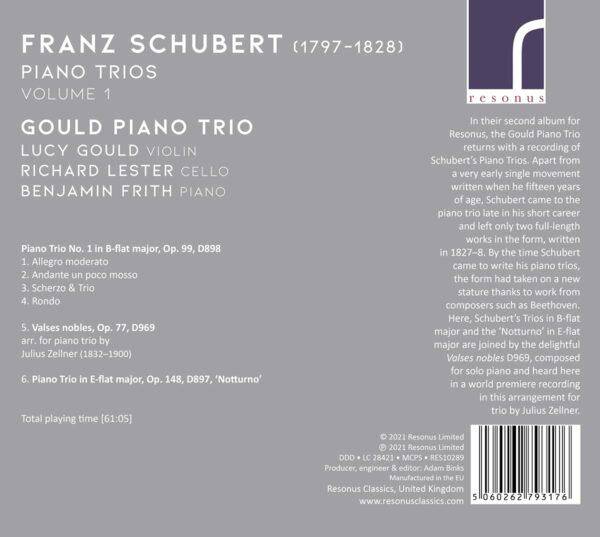 Schubert: Piano Trios Vol.1 - Gould Piano Trio
