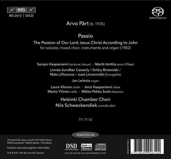 Arvo Part: Passio - Helsinki Chamber Choir