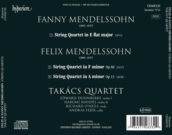 Fanny & Felix Mendelssohn: String Quartets - Takacs Quartet