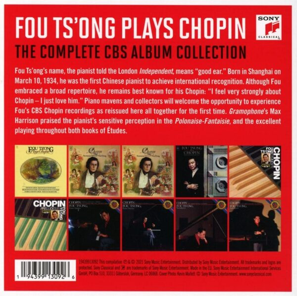 Fou Ts'Ong Plays Chopin - The Complete CBS Album Collection