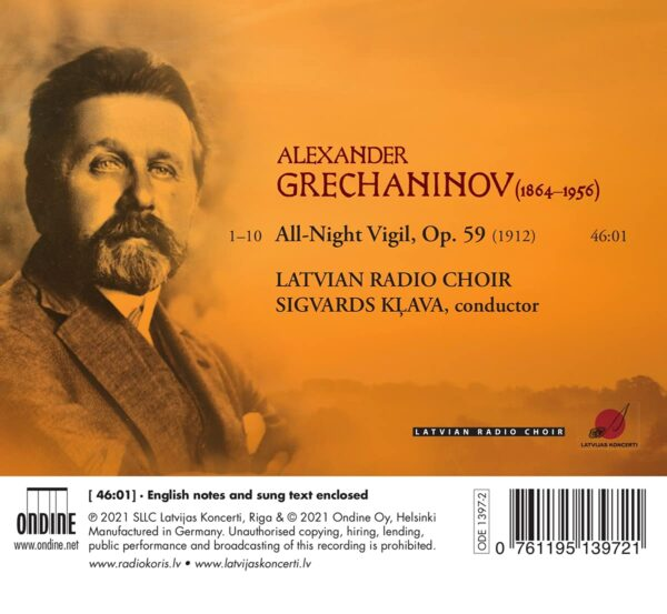 Alexander Gretchaninov: All-Night Vigil - Latvian Radio Choir