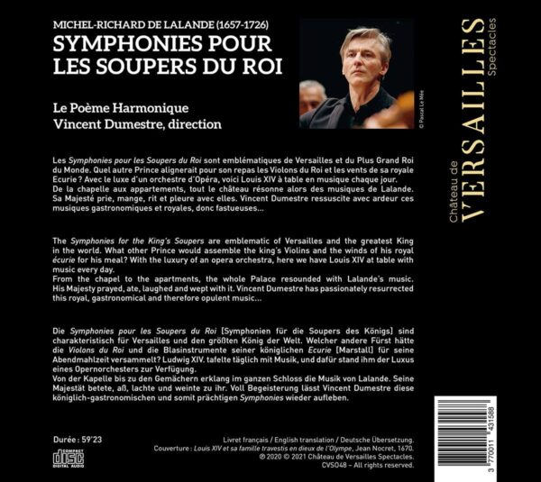 Michel-Richard De Lalande: Les Soupers Du Roy - Vincent Dumestre