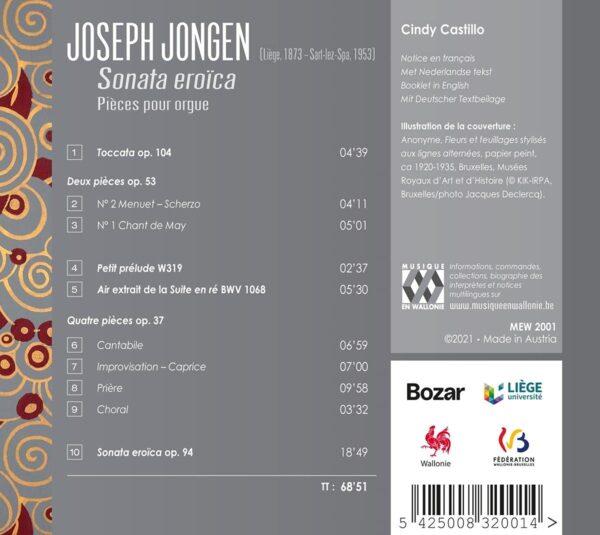 Joseph Jongen: Pièces Pour Orgue - Cindy Castillo