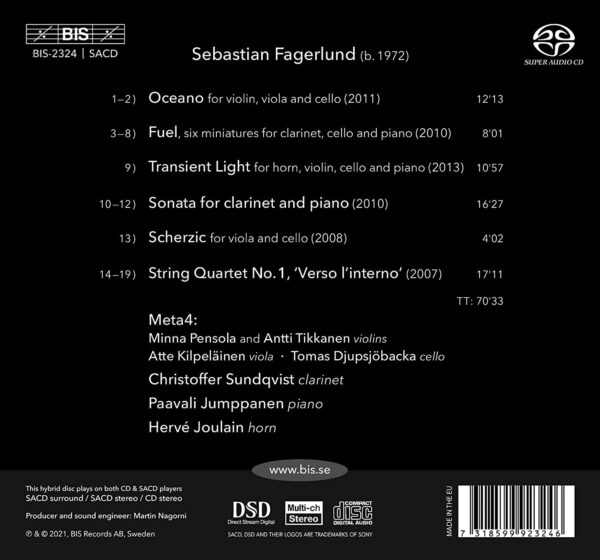 Sebastian Fagerlund: Oceano, Chamber Music - Meta4
