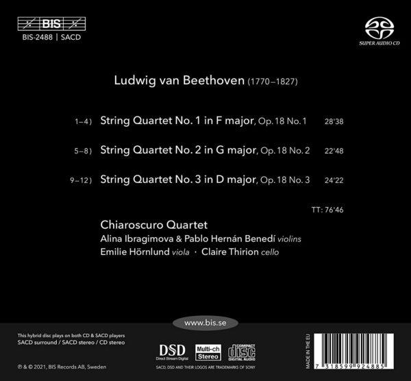 Beethoven: String Quartets, Op. 18 Nos. 1-3 - Chiaroscuro Quartet