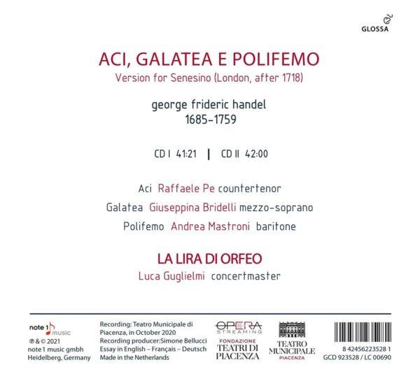 Handel: Aci, Galatea E Polifemo - Luca Guglielmi